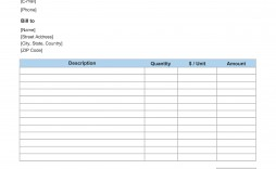 008 Exceptional Blank Invoice Template Excel Photo  Free Download Receipt
