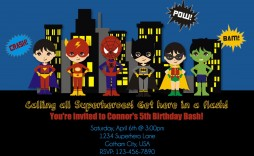 008 Exceptional Editable Superhero Invitation Template Free Concept