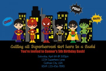 008 Exceptional Editable Superhero Invitation Template Free Concept 360