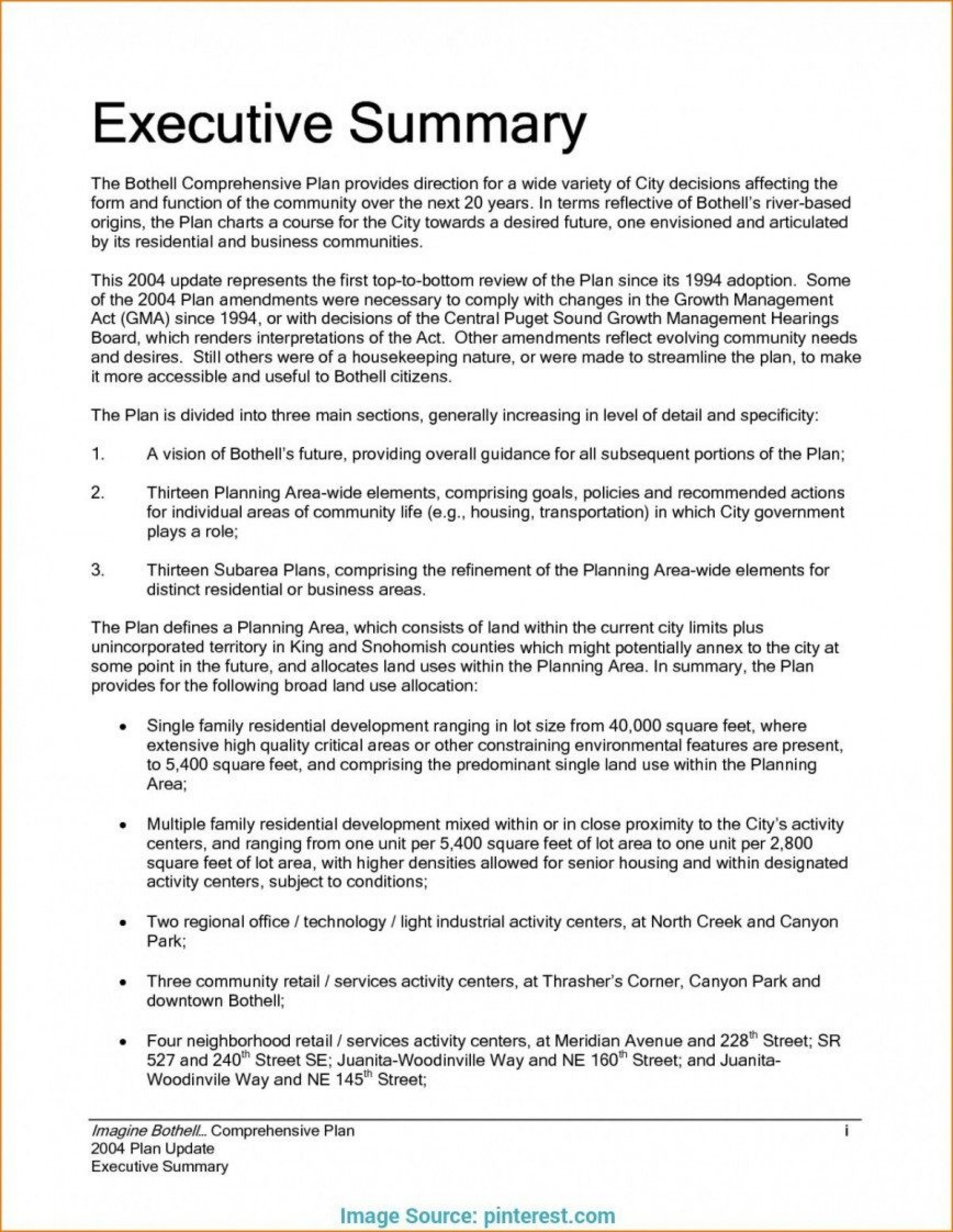 008 Exceptional Executive Summary Template Word Free Highest Quality 1920