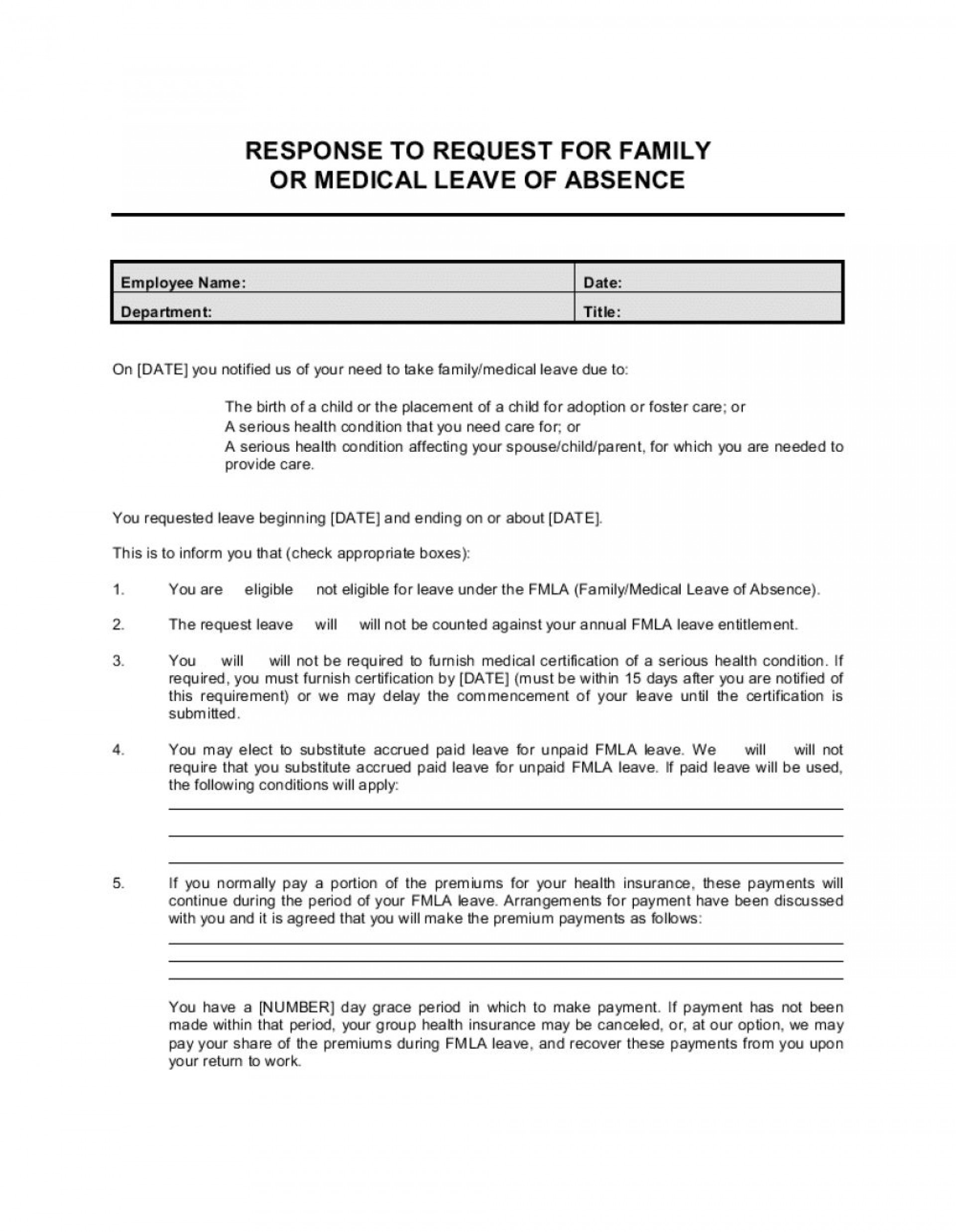 008 Exceptional Leave Of Absence Form Template Highest Quality  Medical Request Free1920