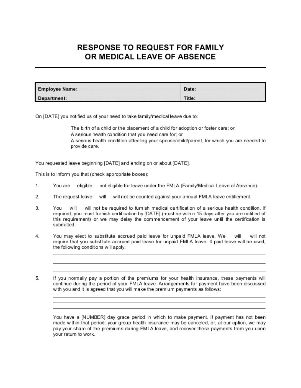 008 Exceptional Leave Of Absence Form Template Highest Quality  Medical Request FreeFull