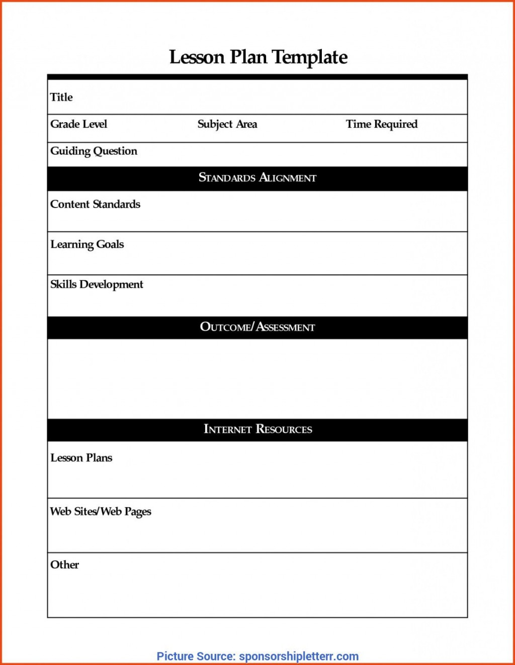 008 Exceptional Lesson Plan Template Word Picture  Weekly Free PreschoolLarge