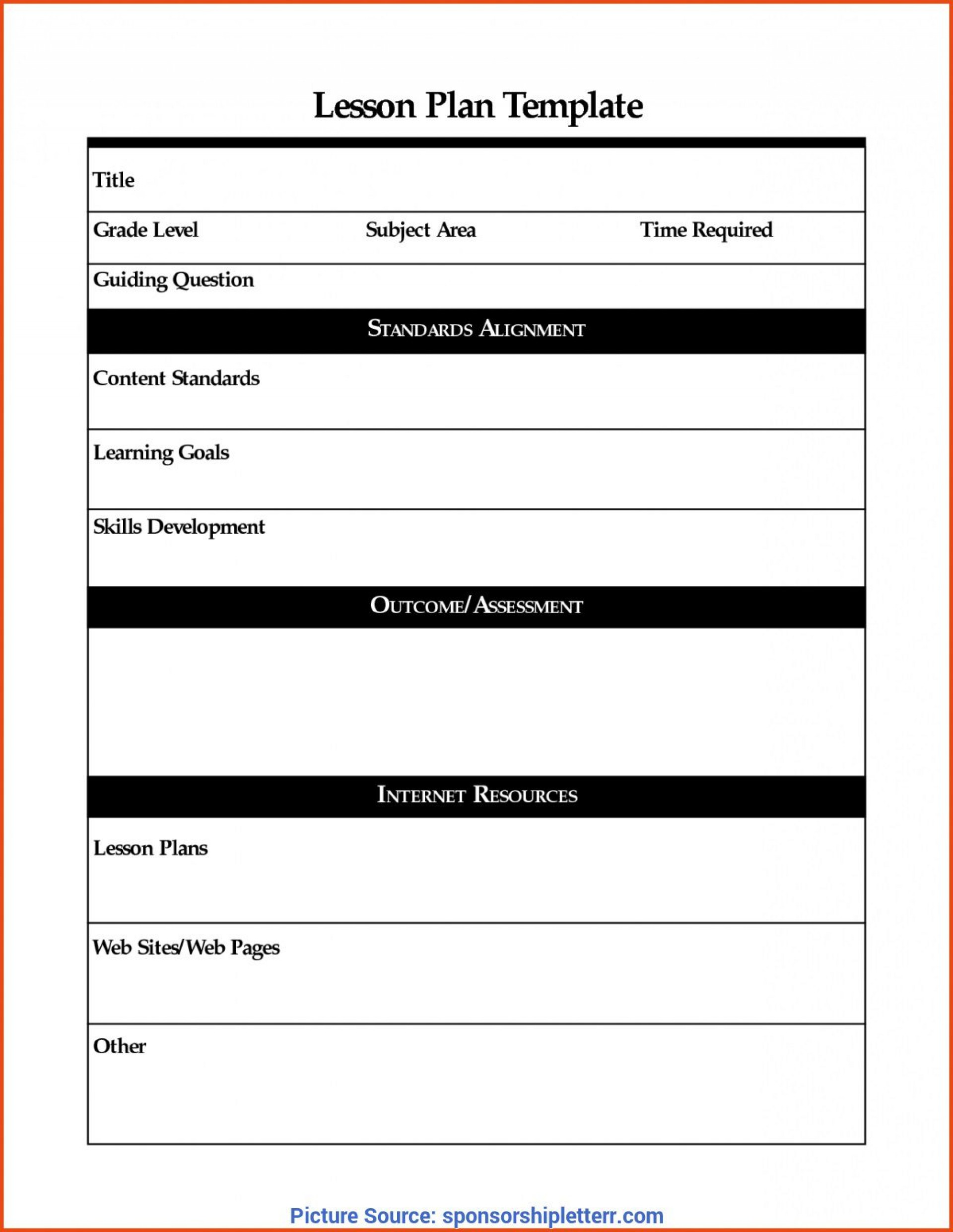 008 Exceptional Lesson Plan Template Word Picture  Weekly Free Preschool1920