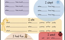008 Exceptional Preschool Daily Report Template Photo  Form Baby Sheet