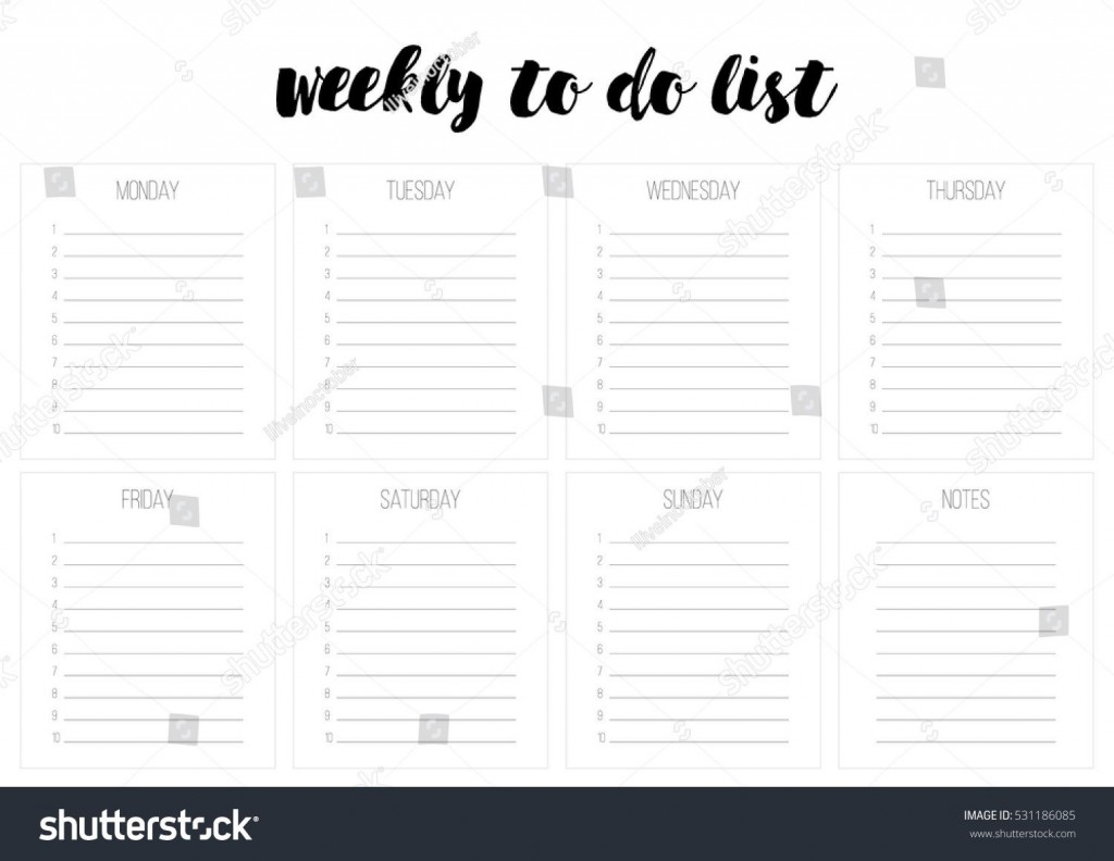 008 Exceptional Weekly Todo List Template Design  To Do Pinterest Task Excel Daily PdfLarge