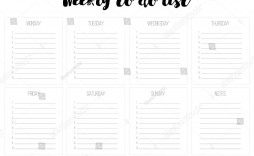 008 Exceptional Weekly Todo List Template Design  To Do Pinterest Task Excel Daily Pdf