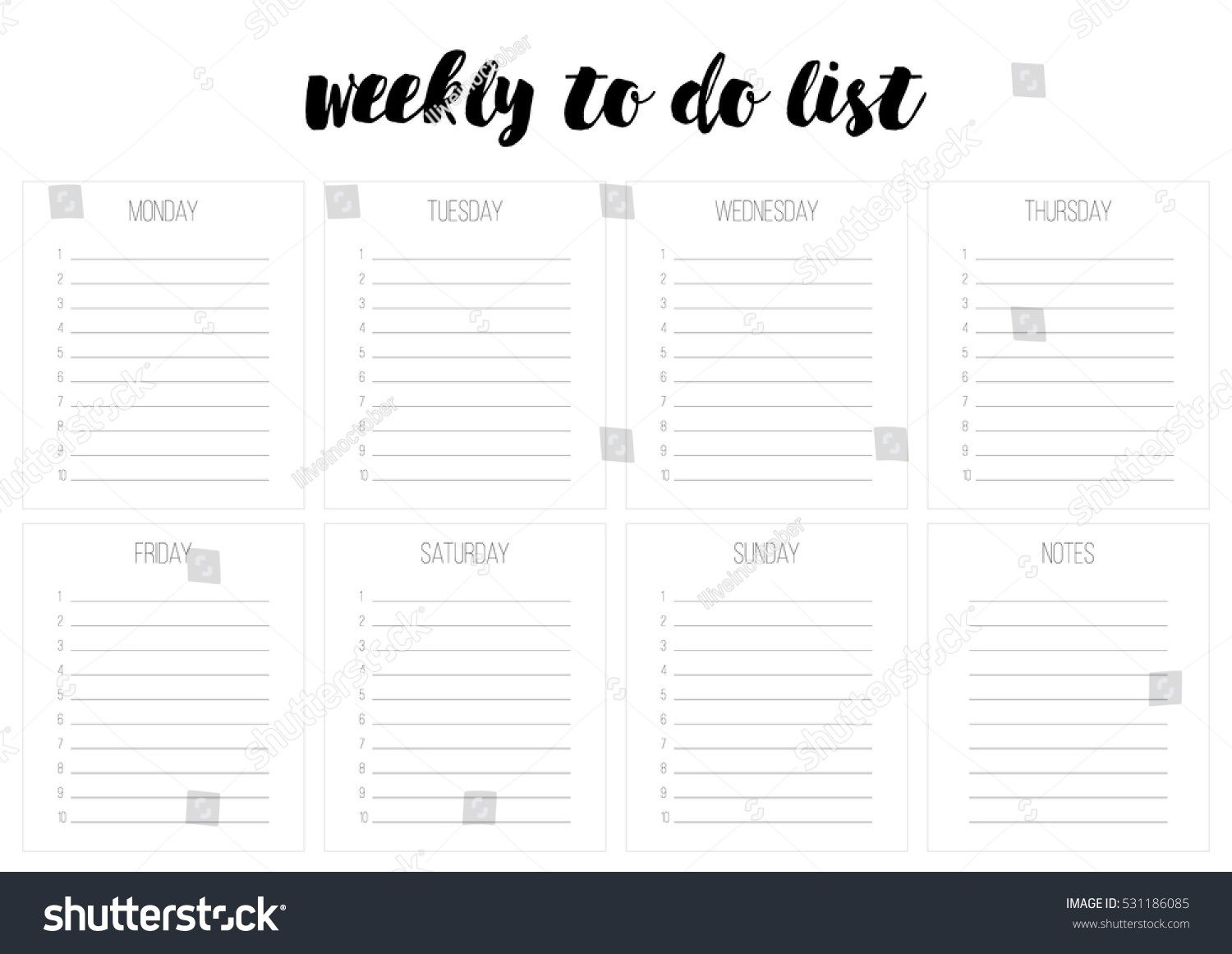 008 Exceptional Weekly Todo List Template Design  To Do Pinterest Task Excel Daily PdfFull
