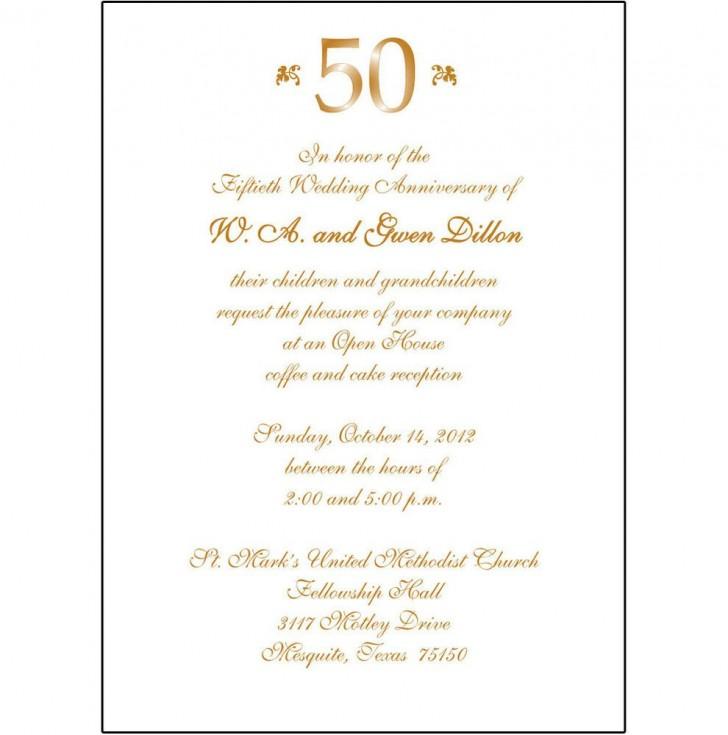 008 Fantastic 50th Anniversary Invitation Wording Sample Inspiration  Wedding 60th In Tamil Birthday728