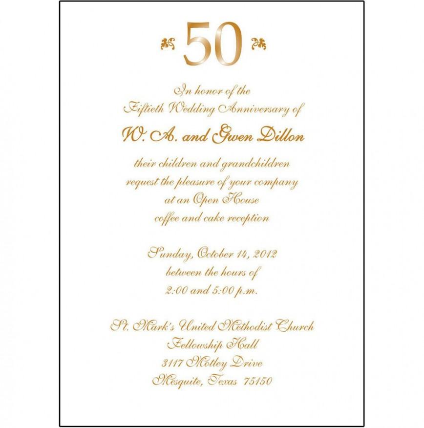 008 Fantastic 50th Anniversary Invitation Wording Sample Inspiration  Wedding 60th In Tamil Birthday868