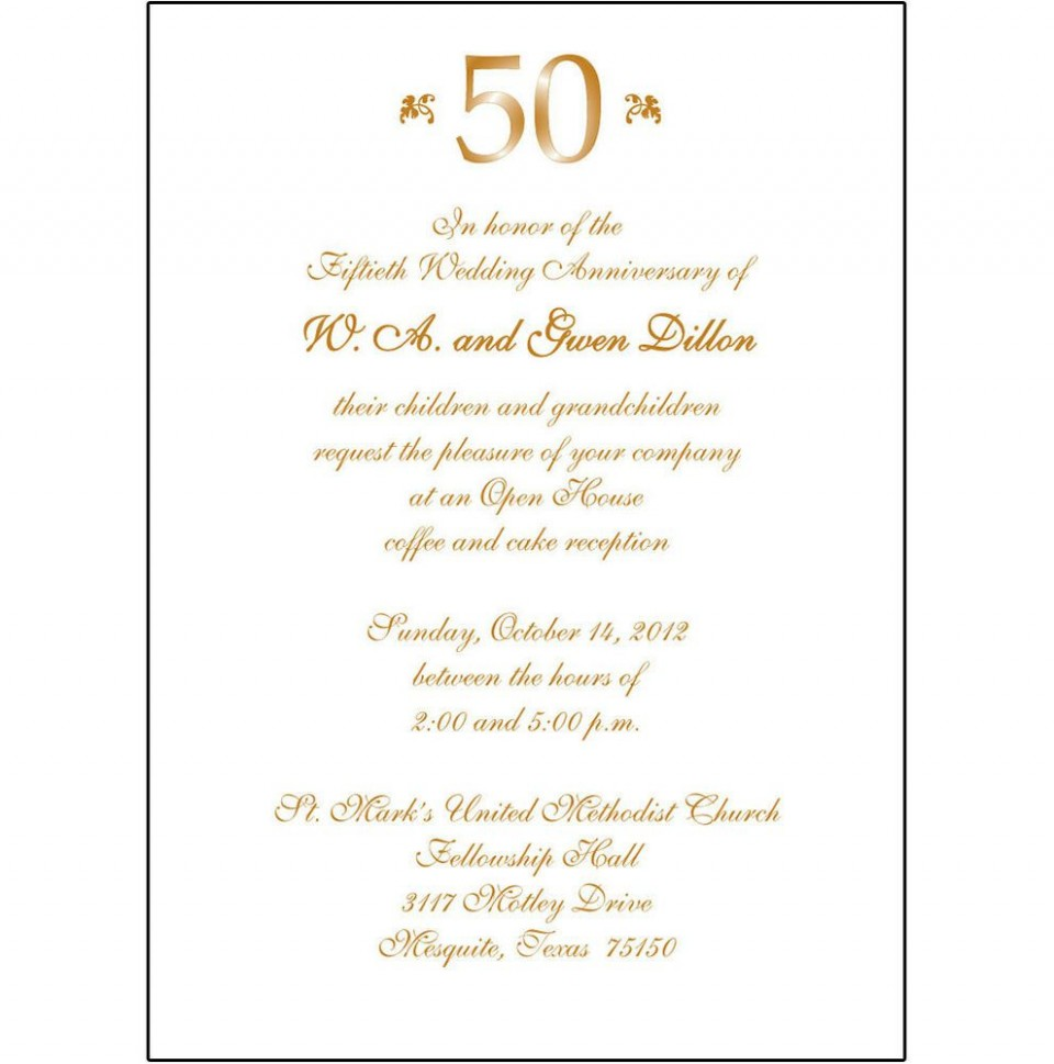 008 Fantastic 50th Anniversary Invitation Wording Sample Inspiration  Wedding 60th In Tamil Birthday960