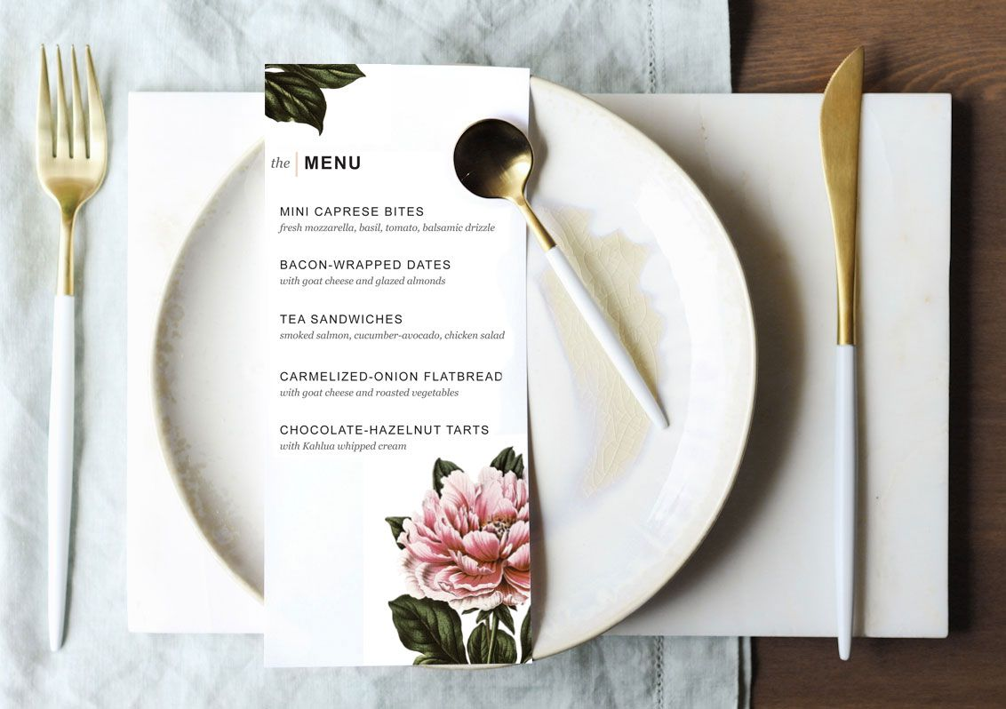 008 Fantastic Dinner Party Menu Template Design  Card Free Italian WordFull