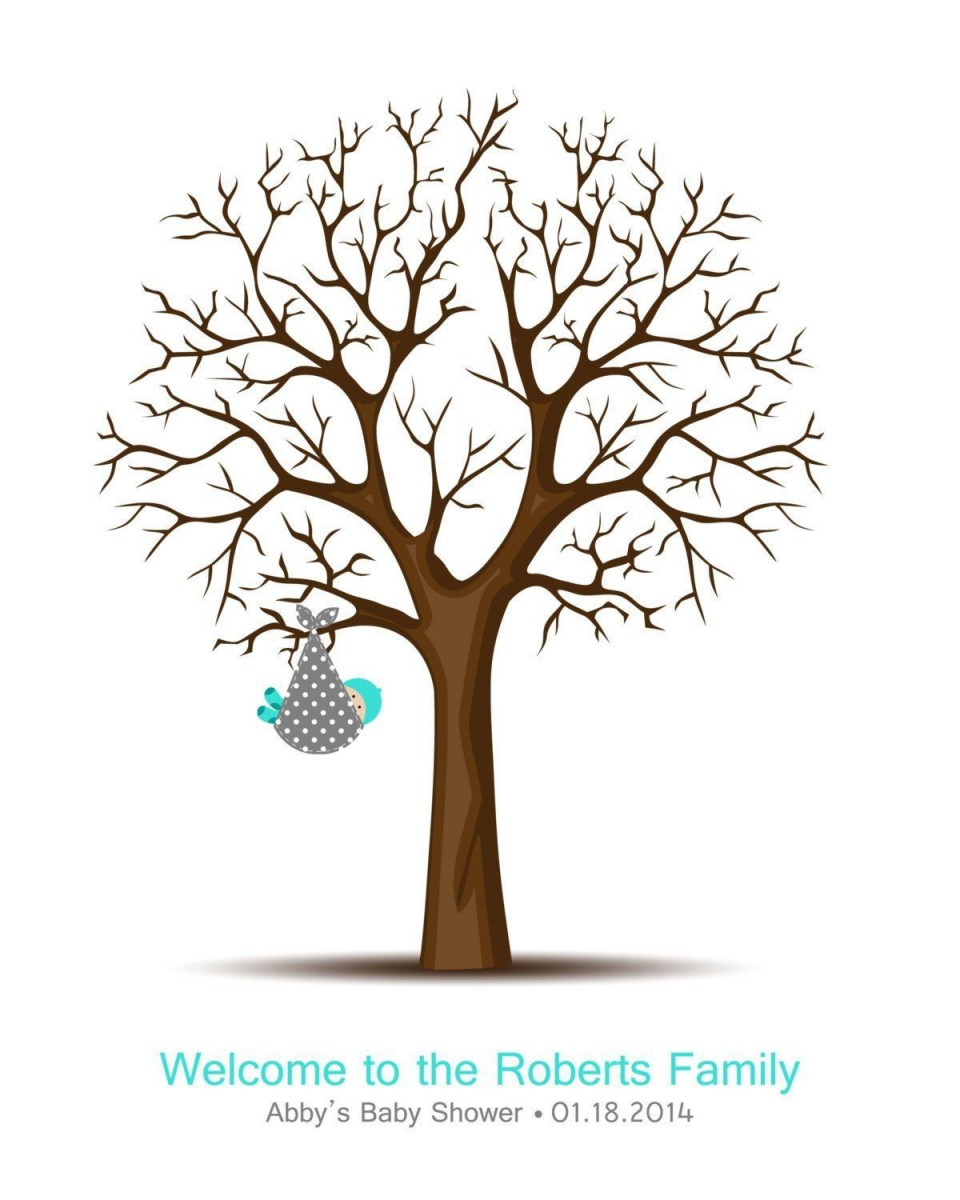 008 Fantastic Family Tree For Baby Book Template High Definition  Printable960