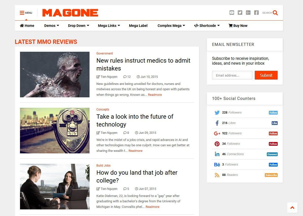 008 Fantastic Free Responsive Seo Friendly Blogger Template Highest Clarity Full