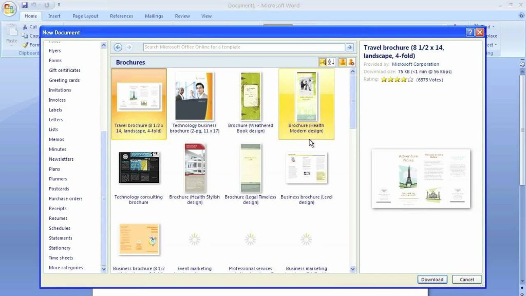 008 Fantastic Microsoft Word Brochure Format Example  2007 Flyer Template 3 FoldLarge