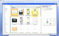 008 Fantastic Microsoft Word Brochure Format Example  2007 Flyer Template 3 Fold
