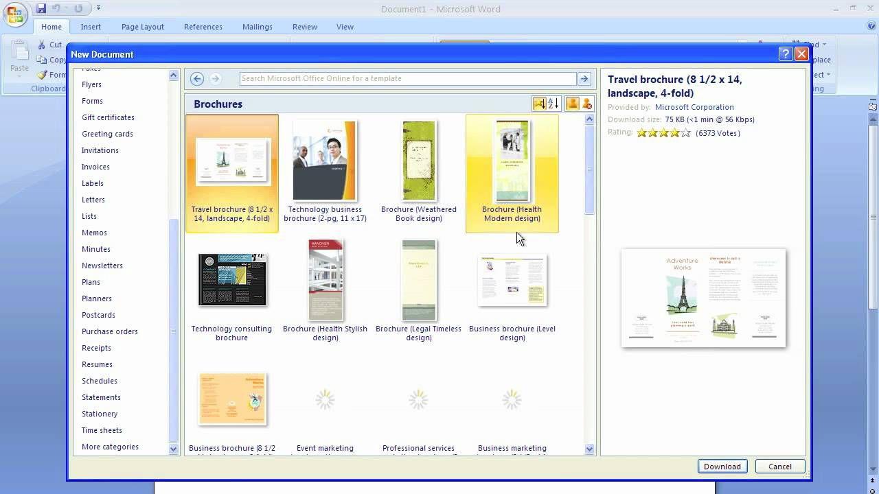008 Fantastic Microsoft Word Brochure Format Example  2007 Flyer Template 3 FoldFull