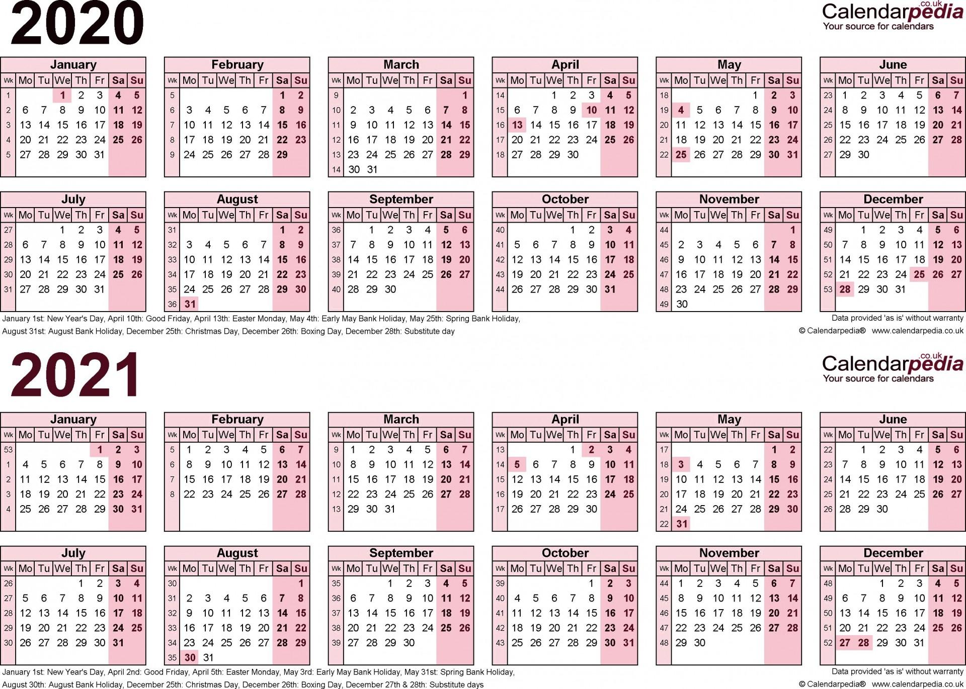 008 Fantastic Payroll Calendar Template 2020 Example  Biweekly Schedule Excel Free1920