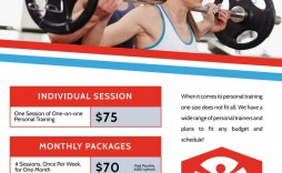 008 Fantastic Personal Trainer Flyer Template Example  Word Psd
