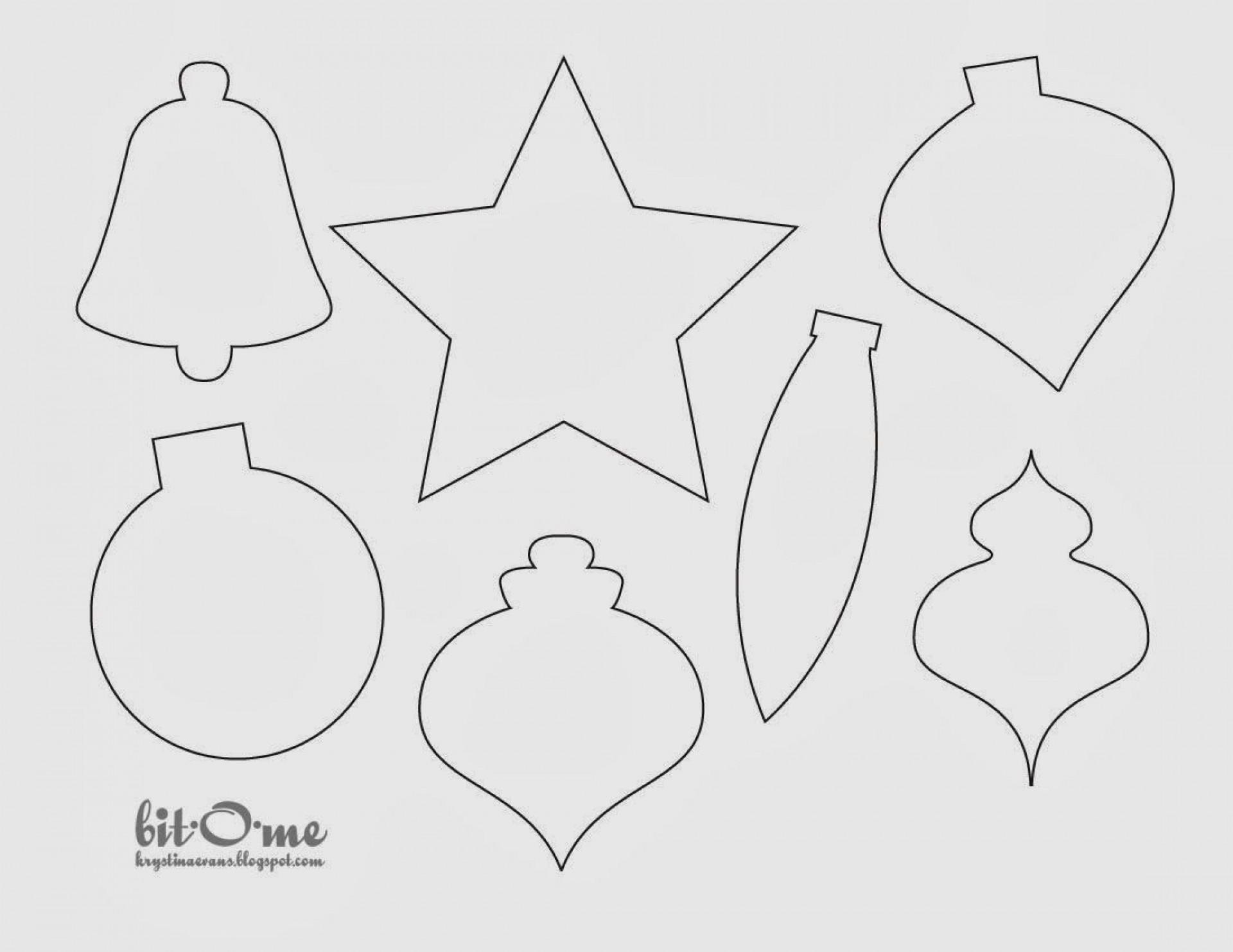 008 Fantastic Printable Christma Ornament Template Picture  Templates Stencil Felt Pattern Tree1920