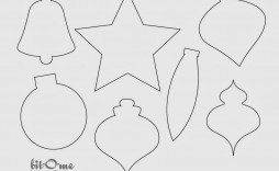 008 Fantastic Printable Christma Ornament Template Picture  Templates Stencil Felt Pattern Tree