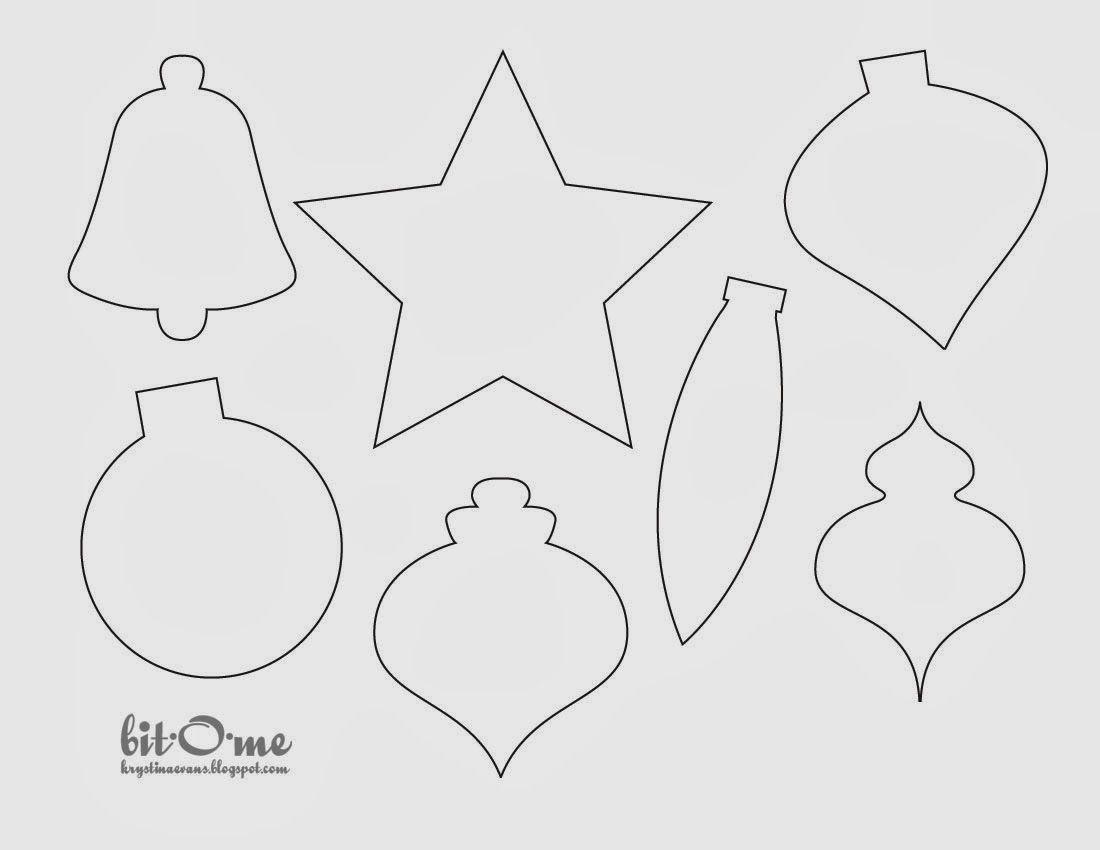 008 Fantastic Printable Christma Ornament Template Picture  Templates Stencil Felt Pattern TreeFull