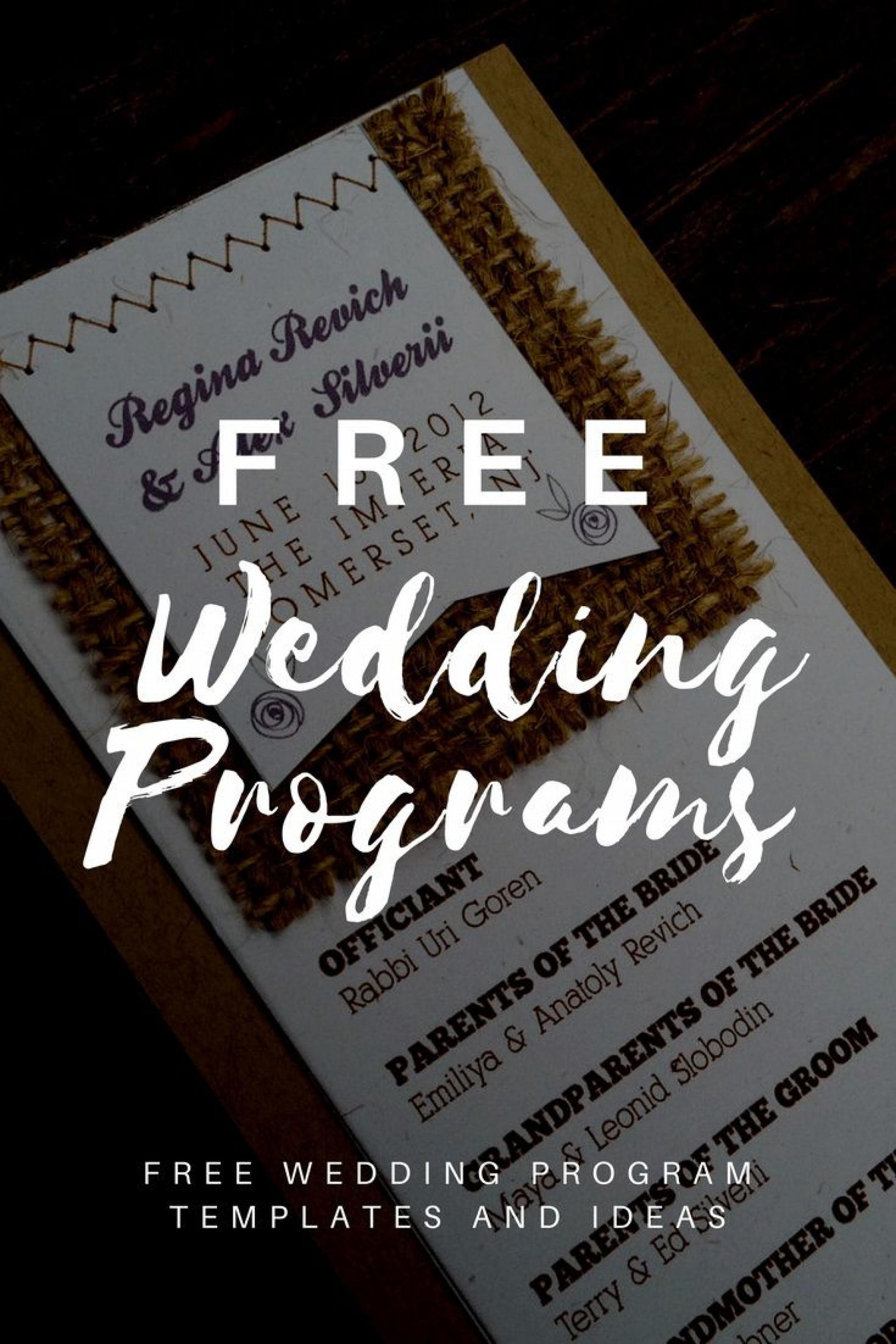 008 Fantastic Trifold Wedding Program Template Concept  Templates Tri Fold Tri-fold Publisher Free Foldable1920