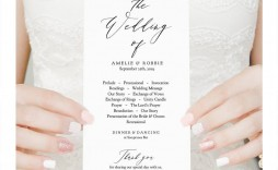 008 Fantastic Wedding Order Of Service Template Pdf Photo