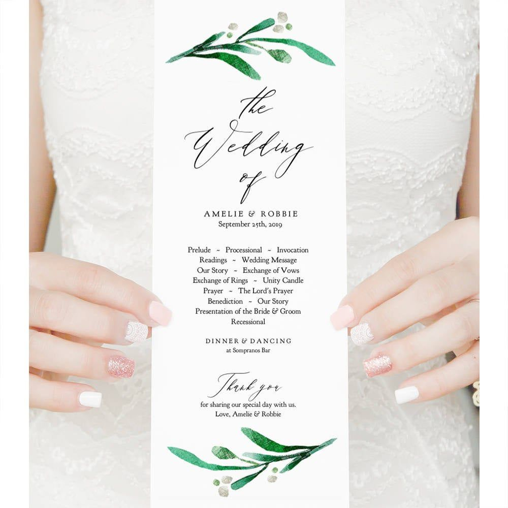 008 Fantastic Wedding Order Of Service Template Pdf Photo Full