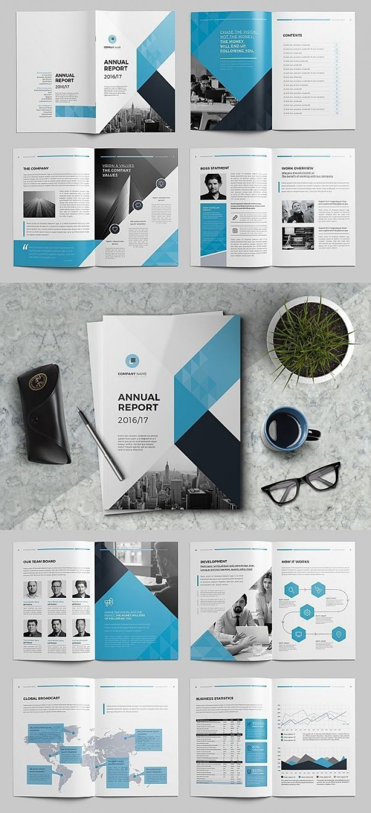 008 Fascinating Annual Report Design Template Indesign Photo  Free Download728