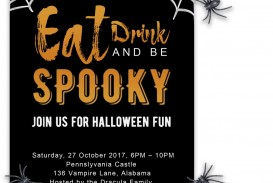 008 Fascinating Free Halloween Party Invitation Template Sample  Printable Birthday For Word Download