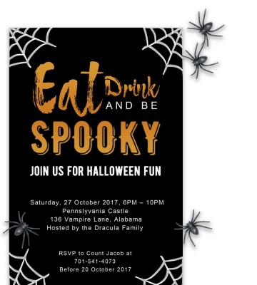 008 Fascinating Free Halloween Party Invitation Template Sample  Printable Birthday For Word Download360