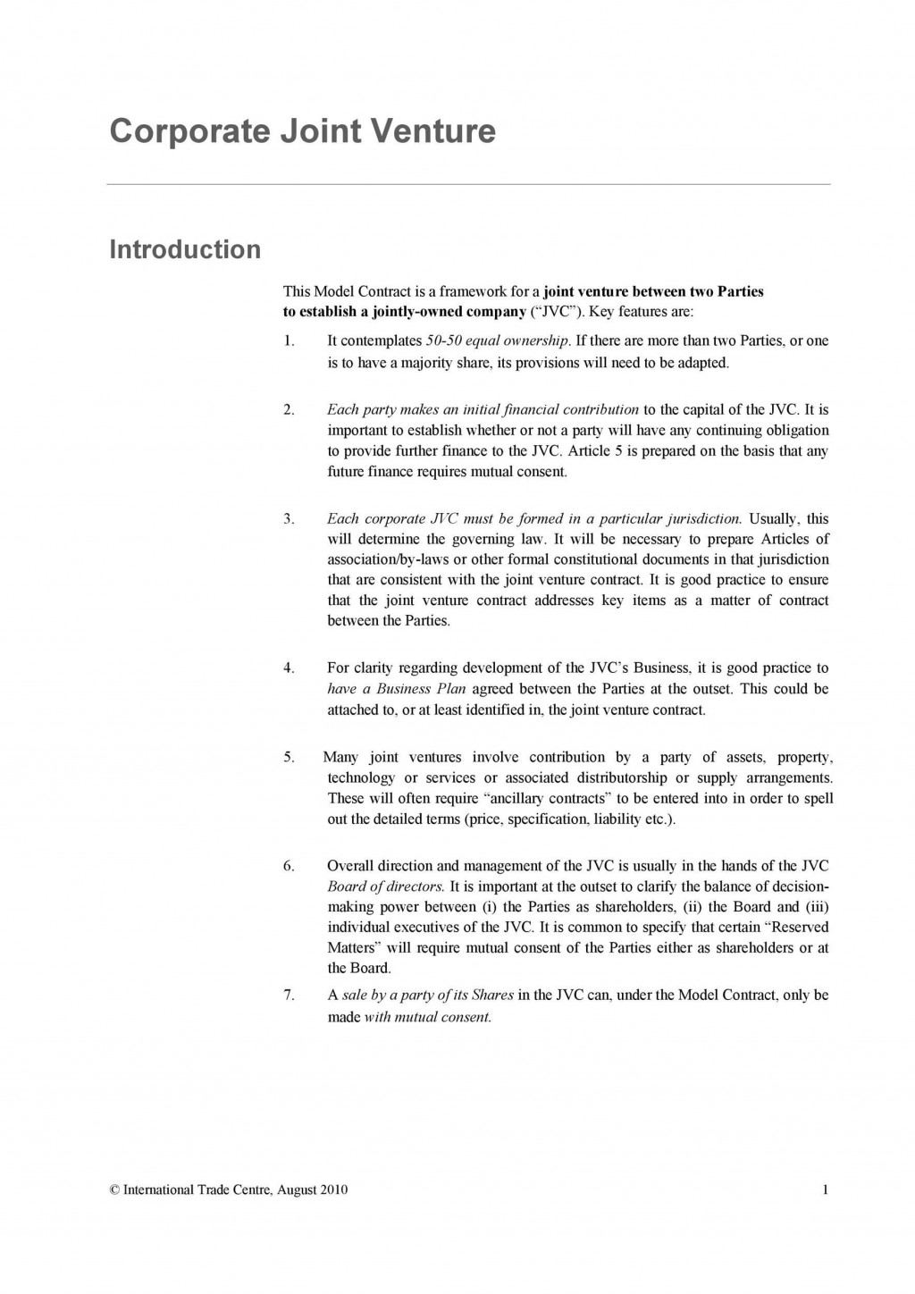 008 Fascinating Free Simple Joint Venture Agreement Template Idea Large
