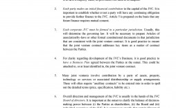 008 Fascinating Free Simple Joint Venture Agreement Template Idea