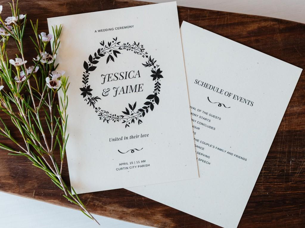008 Fascinating Free Word Template For Wedding Program Inspiration  ProgramsLarge