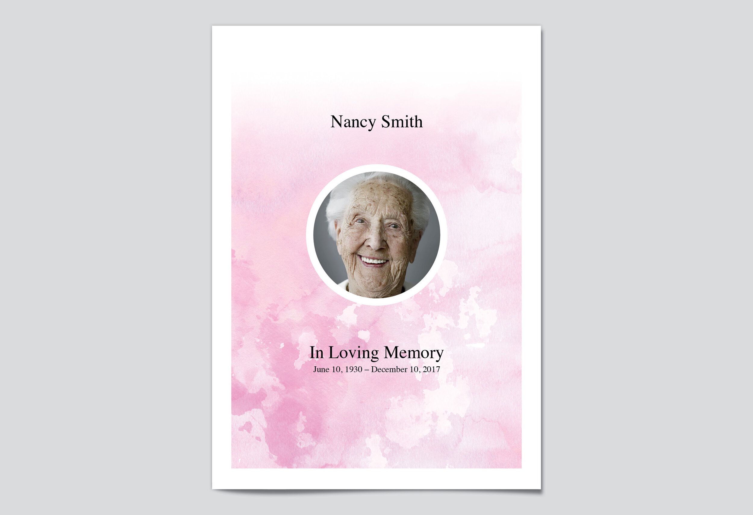 008 Fascinating In Loving Memory Bookmark Template Free Download Highest Clarity Full