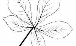 008 Fascinating Leaf Template With Line Picture  Lines Writing Printable