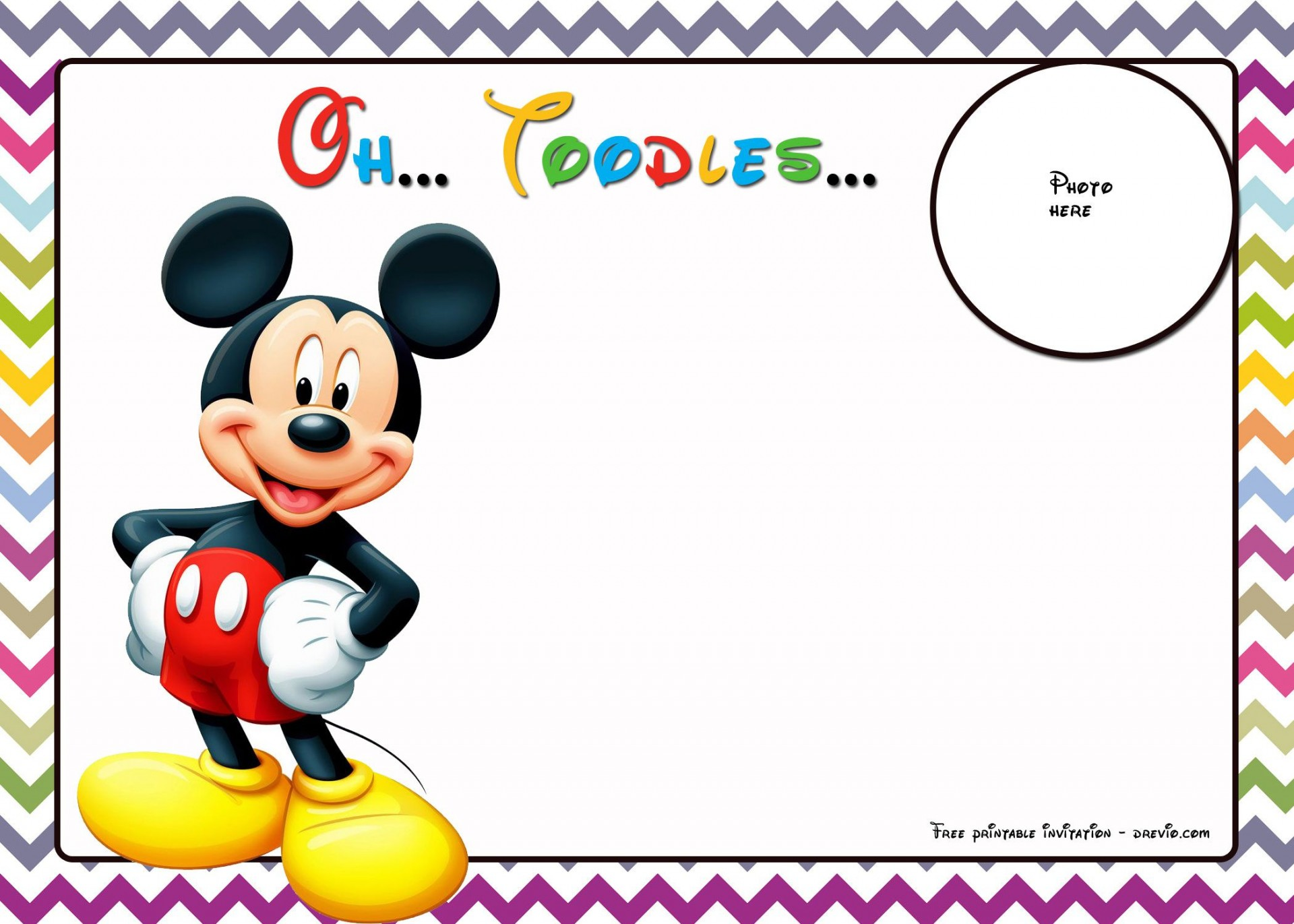 008 Fascinating Mickey Mouse Invitation Template Highest Quality  Free Diy 1st Birthday Baby Download1920
