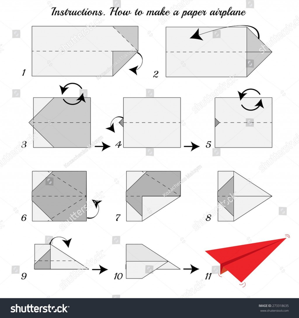 008 Fascinating Printable Simple Paper Airplane Instruction High Resolution  Instructions PlaneLarge