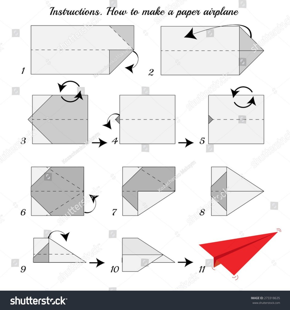 008 Fascinating Printable Simple Paper Airplane Instruction High Resolution  Plane960