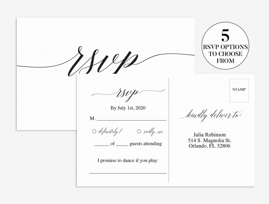 008 Fascinating Rsvp Postcard Template For Word Highest Quality Large