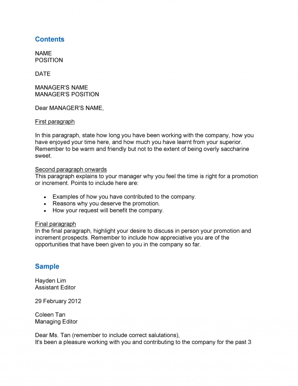 008 Fascinating Salary Increase Letter Template Picture  From Employer To Employee Australia No ForLarge