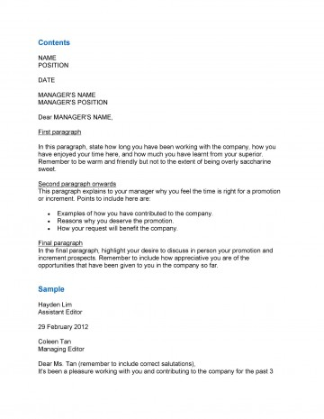 008 Fascinating Salary Increase Letter Template Picture  From Employer To Employee Australia No For360
