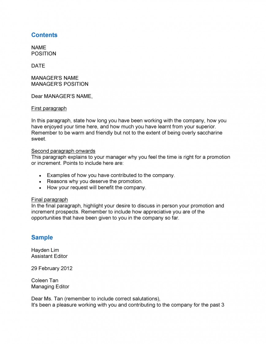008 Fascinating Salary Increase Letter Template Picture  From Employer To Employee Australia No For868