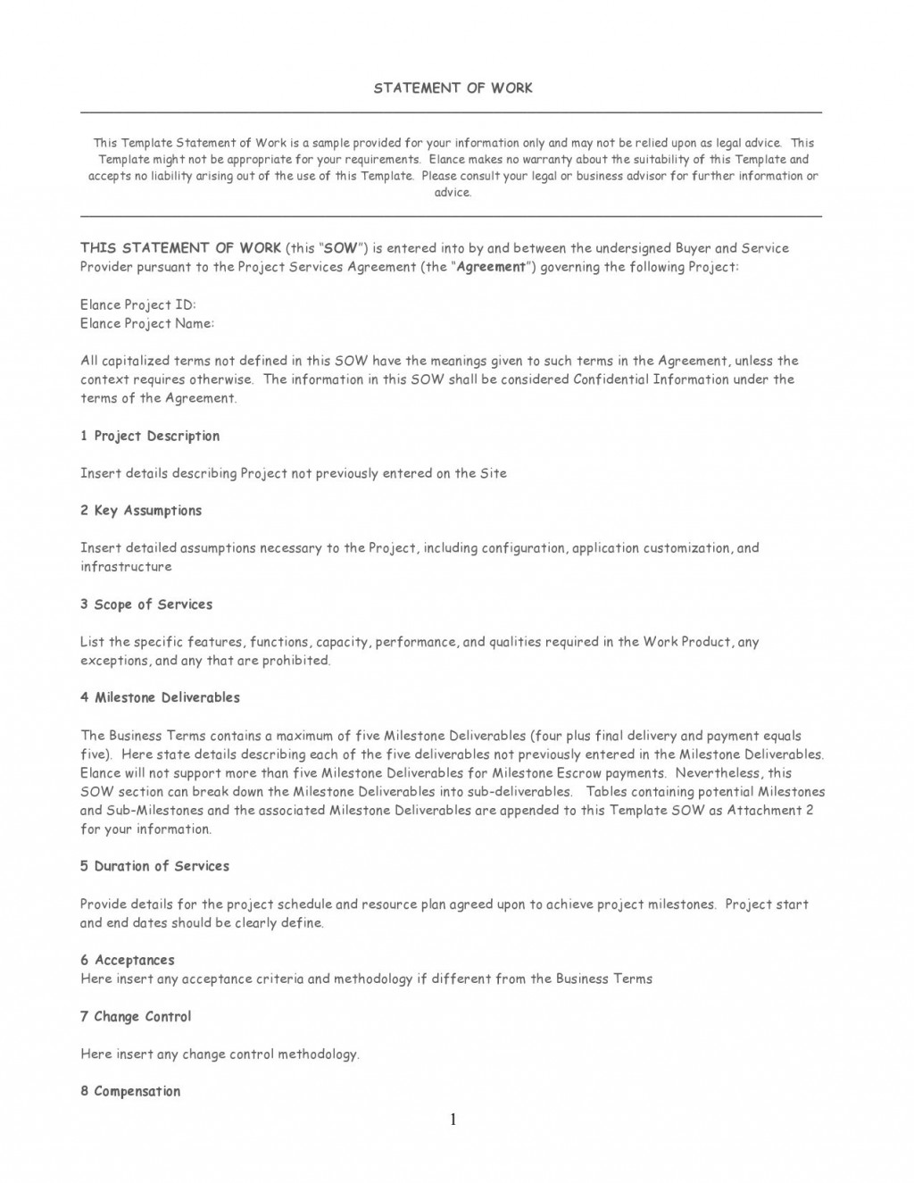 008 Fascinating Scope Of Work Template M Word Concept Large
