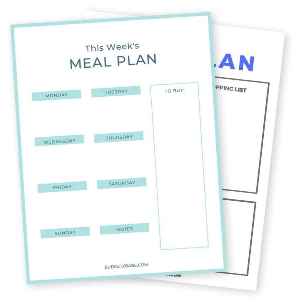 008 Fascinating Weekly Meal Planning Worksheet Pdf High Definition  FreeLarge
