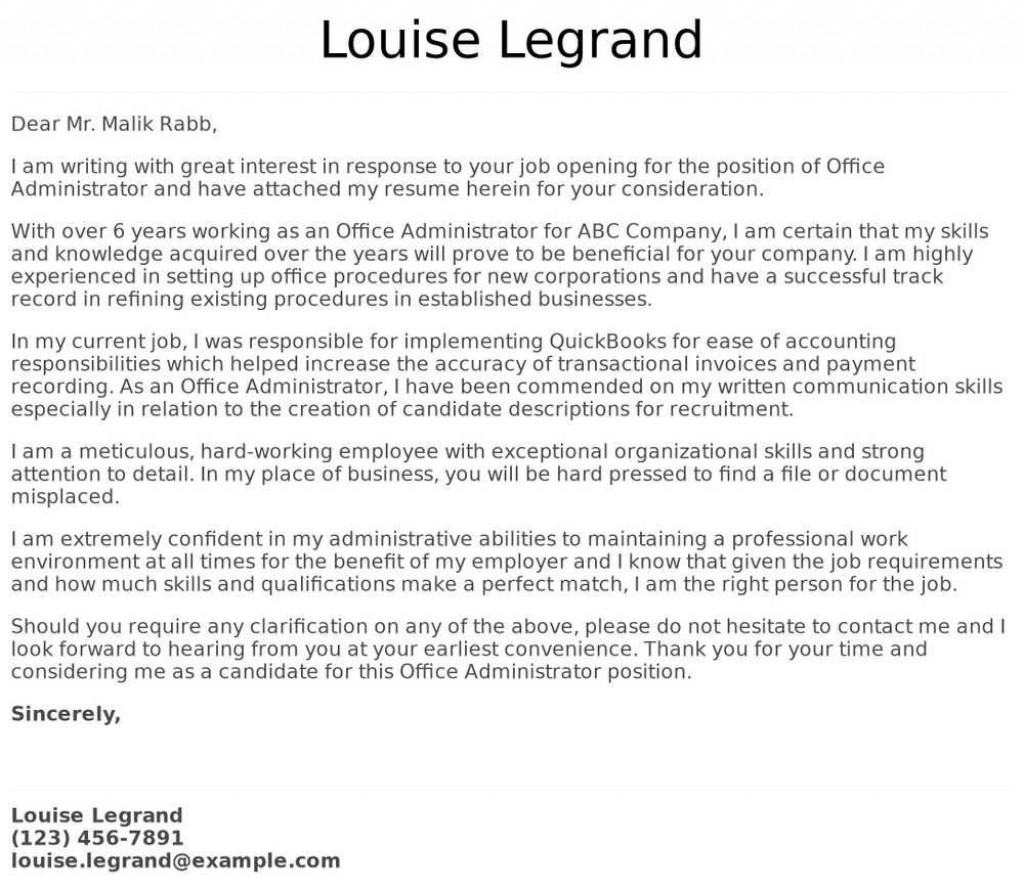 008 Fearsome Cover Letter Template Office Online Example  MicrosoftLarge