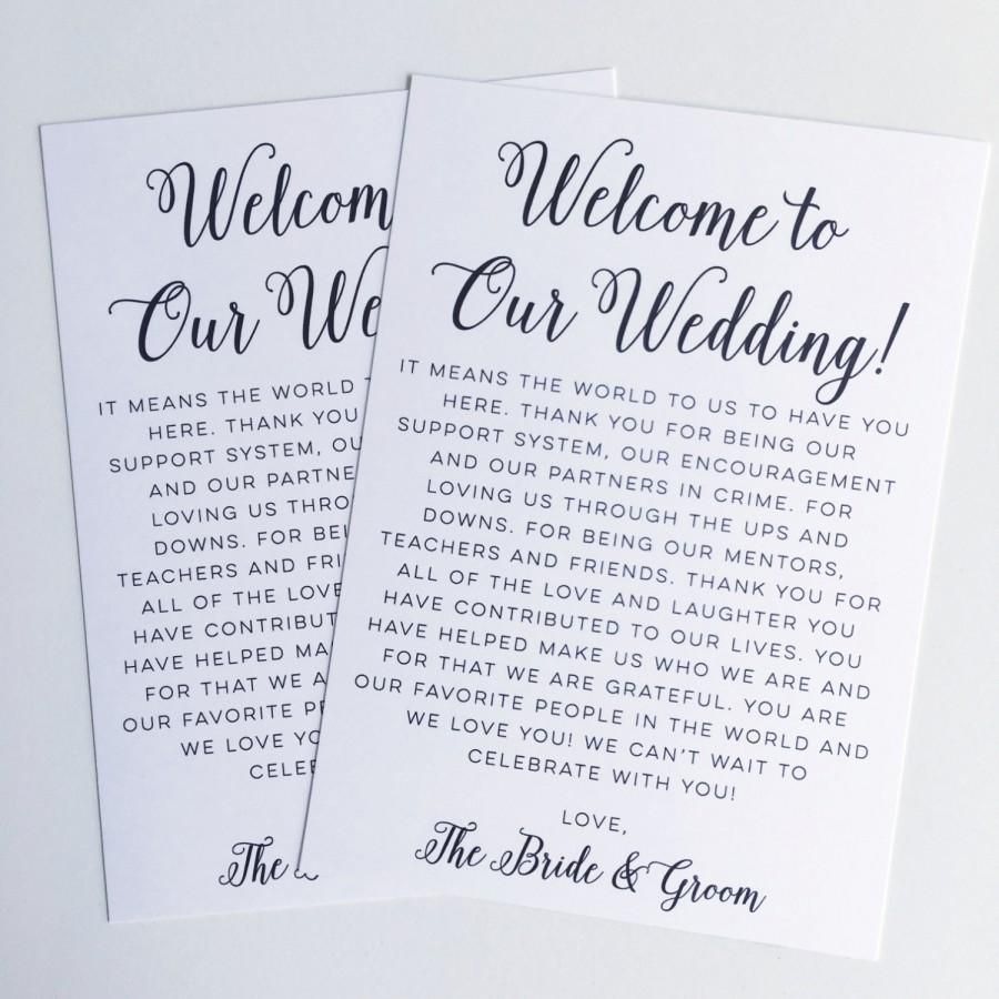008 Fearsome Destination Wedding Welcome Letter Template Idea  And ItineraryFull