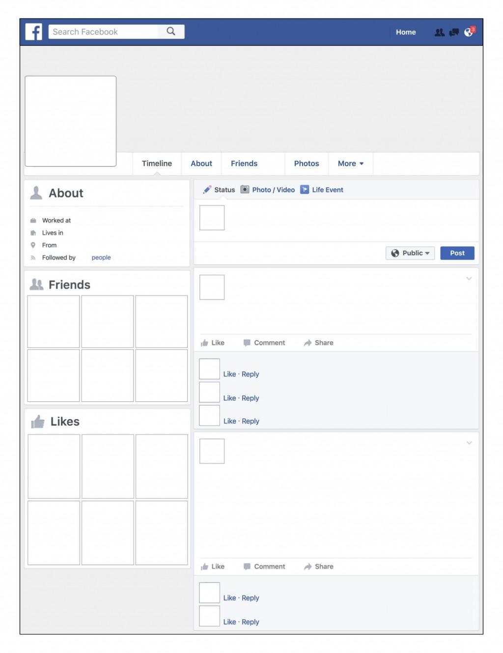 008 Fearsome Fake Facebook Page Template Idea  Busines Microsoft Word Create ALarge