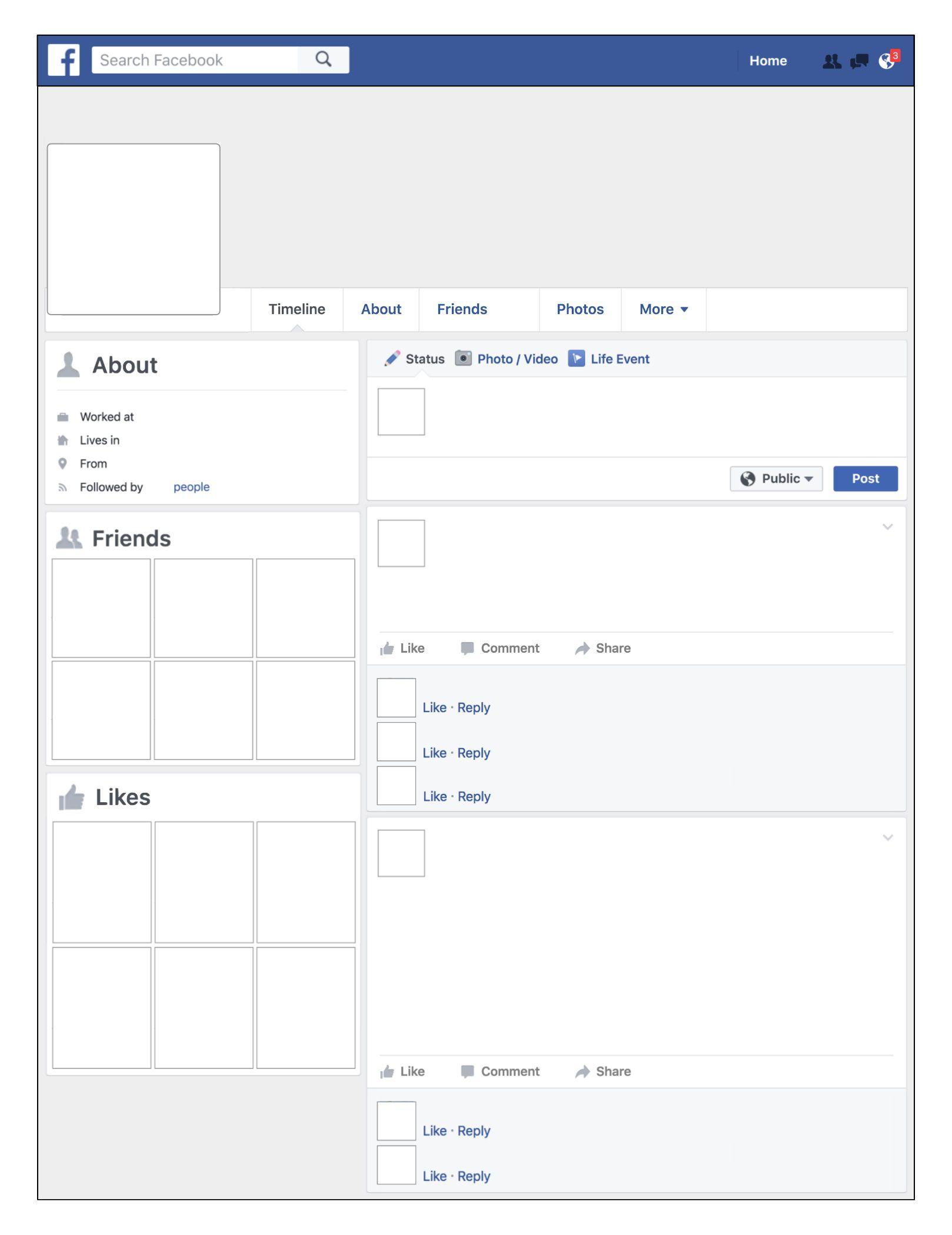 008 Fearsome Fake Facebook Page Template Idea  Busines Microsoft Word Create AFull
